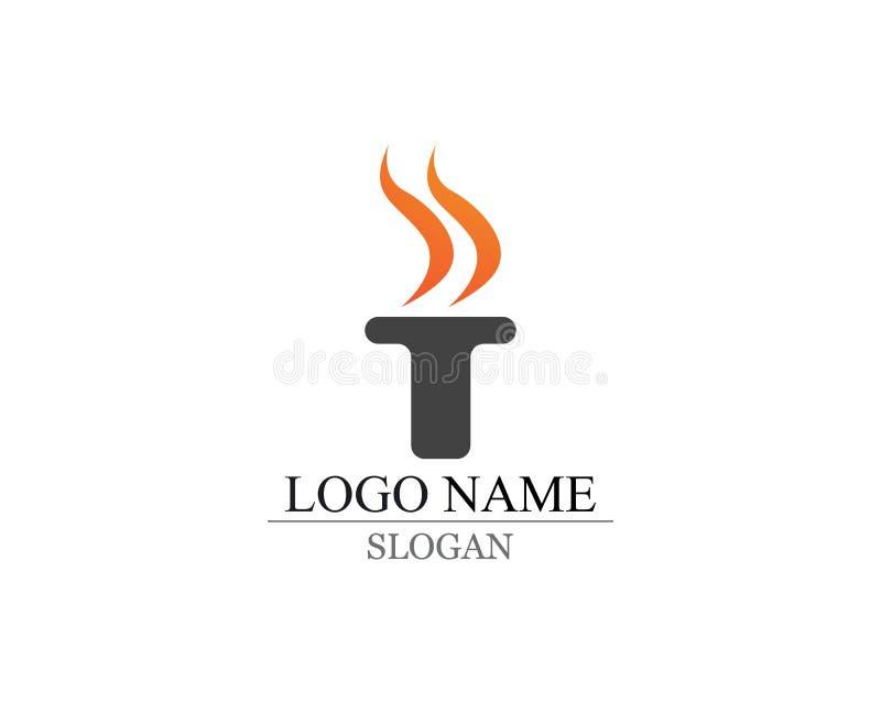 Λογότυπο και σύμβολα φλογών πυρκαγιάς διανυσματική απεικόνιση