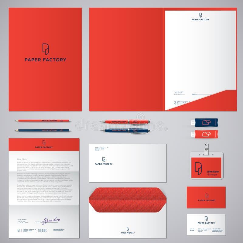 Λογότυπο και ταυτότητα Π Λογότυπο ρόλων του εγγράφου Φάκελος, φάκελλος, κάλυψη, επικεφαλίδα, επιστολή, στυλοί, μολύβια, διακριτικ ελεύθερη απεικόνιση δικαιώματος