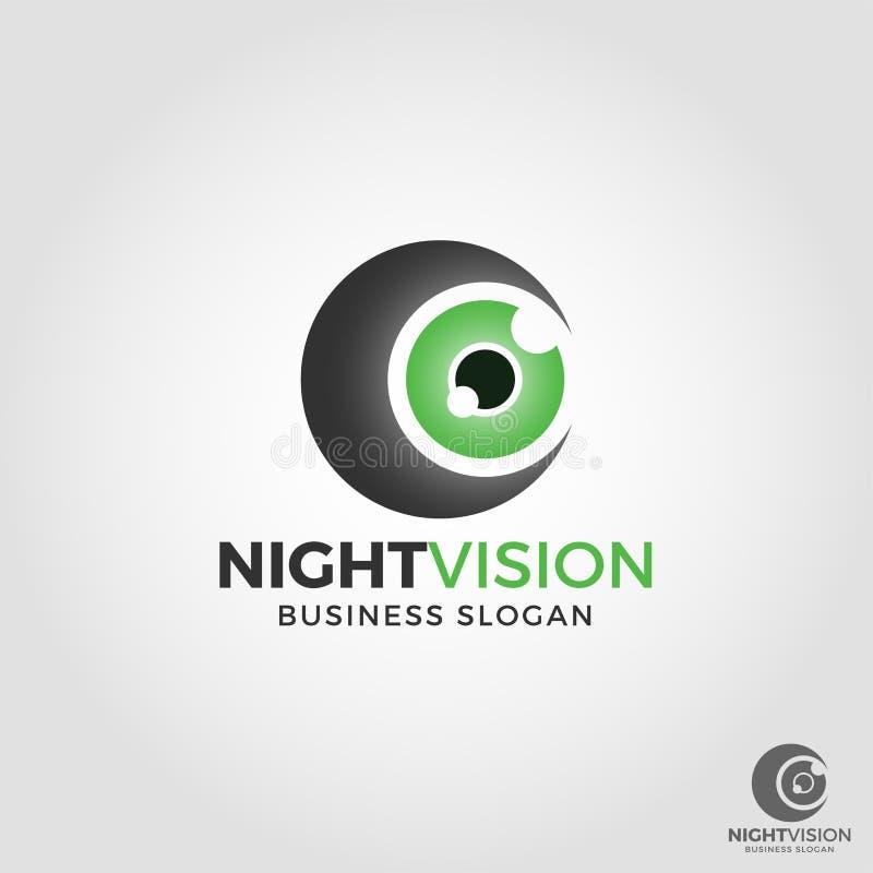 Λογότυπο καμερών νυχτερινής όρασης διανυσματική απεικόνιση