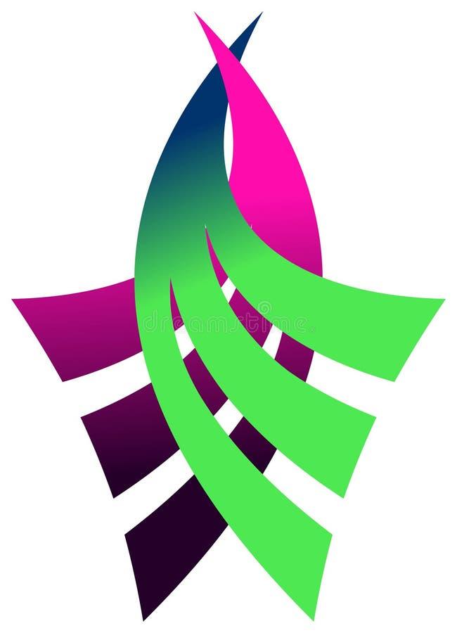 λογότυπο καμπυλών διανυσματική απεικόνιση