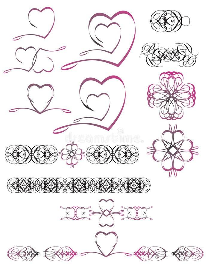 λογότυπο καρδιών διανυσματική απεικόνιση
