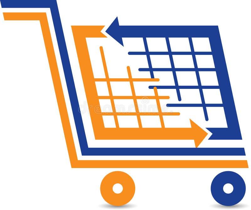 Λογότυπο καροτσακιών αγορών απεικόνιση αποθεμάτων