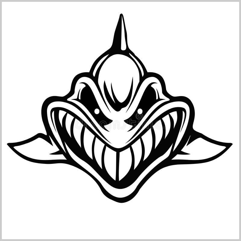 Λογότυπο καρχαριών για μια αθλητική ομάδα στο λευκό r ελεύθερη απεικόνιση δικαιώματος