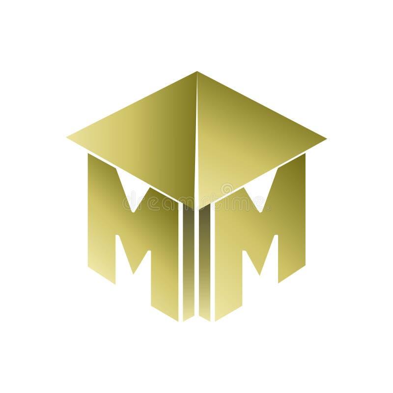 Λογότυπο κατασκευής μονογραμμάτων Μ διανυσματική απεικόνιση