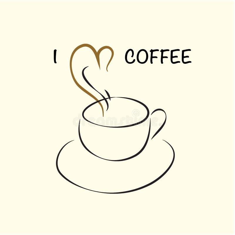 Λογότυπο καφέ ελεύθερη απεικόνιση δικαιώματος