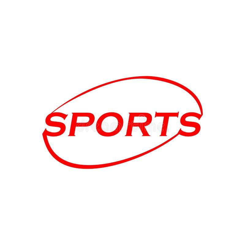 Λογότυπο κειμένων αθλητικής λέξης ελεύθερη απεικόνιση δικαιώματος