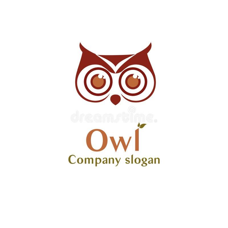 Λογότυπο κουκουβαγιών διανυσματική απεικόνιση