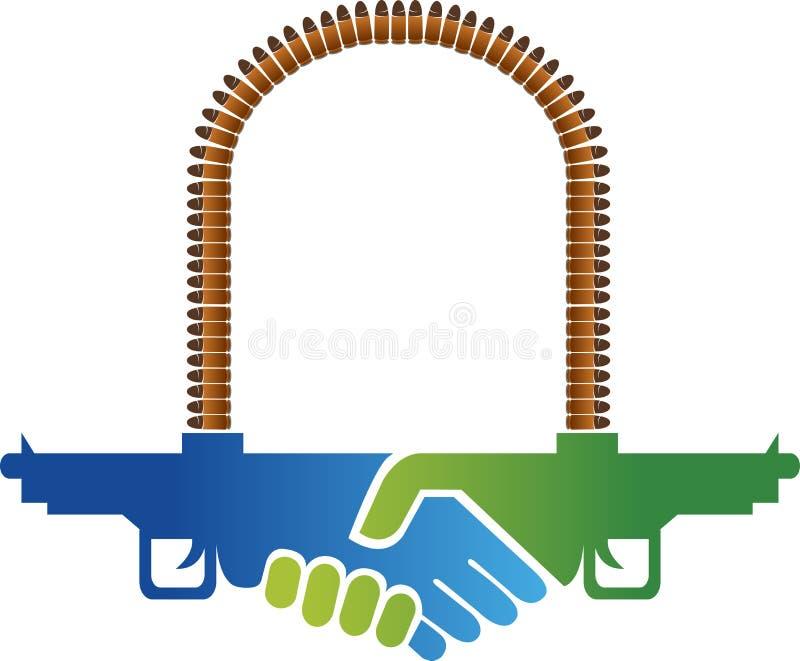 Λογότυπο κουνημάτων χεριών ψεύδου απεικόνιση αποθεμάτων