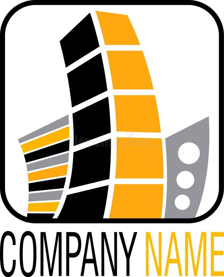 λογότυπο κτημάτων πραγμα&tau διανυσματική απεικόνιση