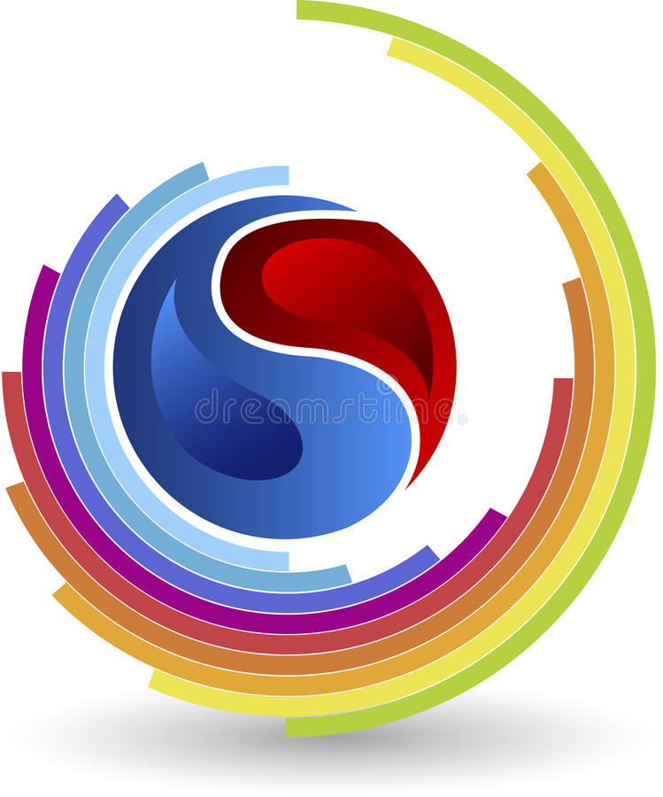 Λογότυπο κύκλων τμήματος απεικόνιση αποθεμάτων