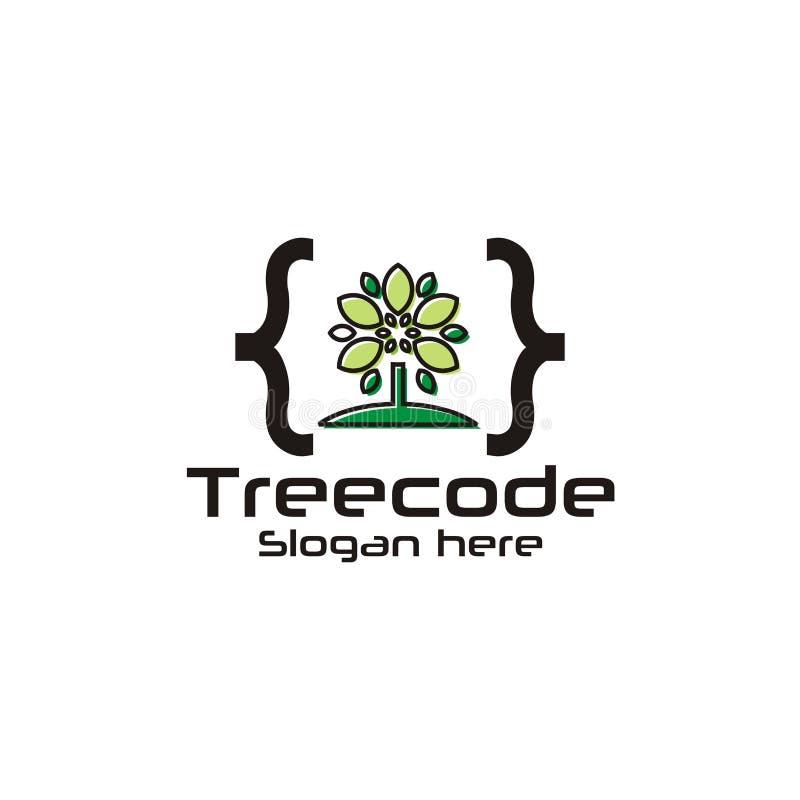 Λογότυπο κώδικα τεχνολογίας διανυσματική απεικόνιση
