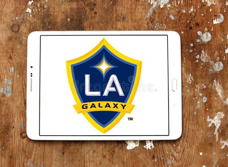 Λογότυπο λεσχών ποδοσφαίρου γαλαξιών του Λος Άντζελες στοκ φωτογραφίες