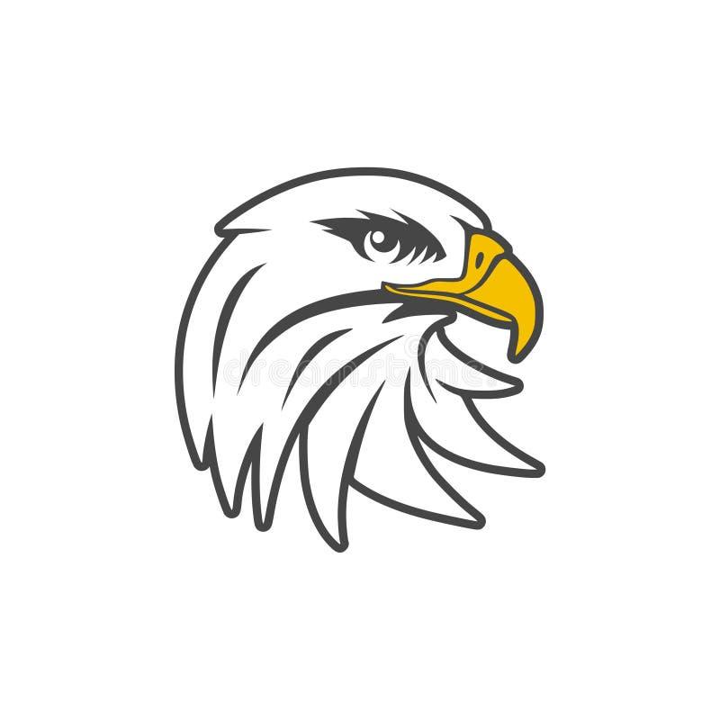 Λογότυπο μασκότ αετών για την αθλητική ομάδα, επικεφαλής εικονίδιο αετών διανυσματική απεικόνιση