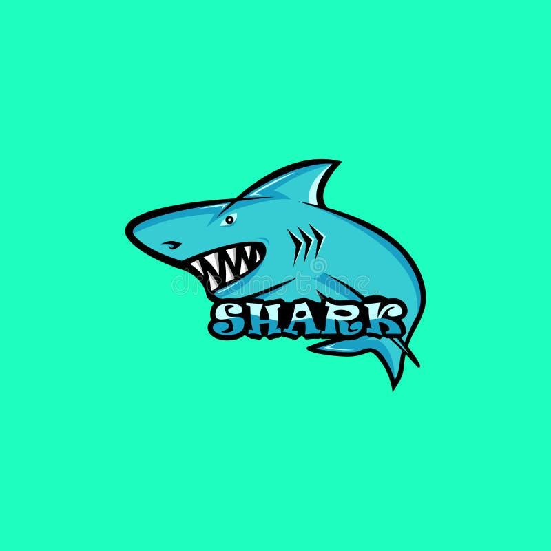 Λογότυπο μασκότ καρχαριών Λογότυπο καρχαριών απεικόνιση αποθεμάτων