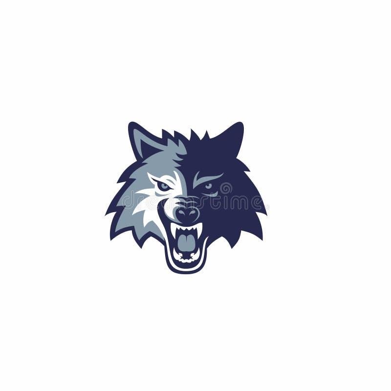 Λογότυπο μασκότ λύκων ελεύθερη απεικόνιση δικαιώματος