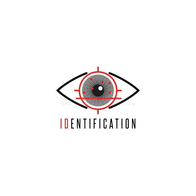 Λογότυπο ματιών ανιχνευτών της Iris, προσωπικός προσδιορισμός και ηλεκτρονική υπογραφή με τη βοήθεια της ανίχνευσης noncontact το απεικόνιση αποθεμάτων