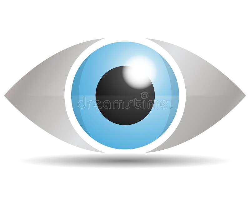 Λογότυπο ματιών γυαλιού στοκ εικόνα με δικαίωμα ελεύθερης χρήσης