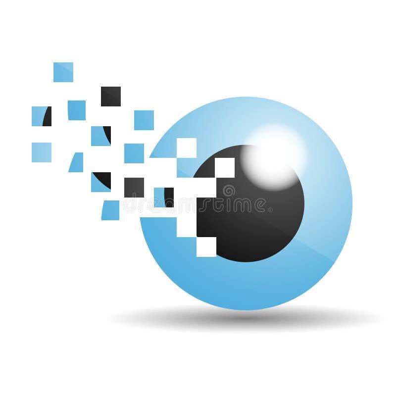 Λογότυπο ματιών γυαλιού στοκ φωτογραφία με δικαίωμα ελεύθερης χρήσης
