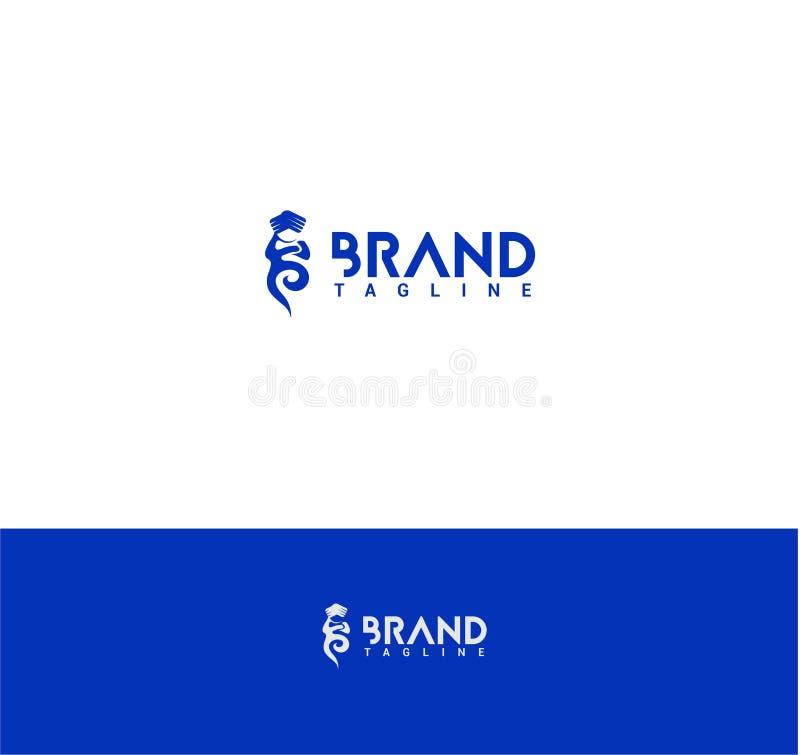 Λογότυπο μεγαλοφυίας με το κείμενο διανυσματική απεικόνιση