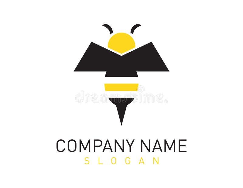 Λογότυπο μελισσών ελεύθερη απεικόνιση δικαιώματος