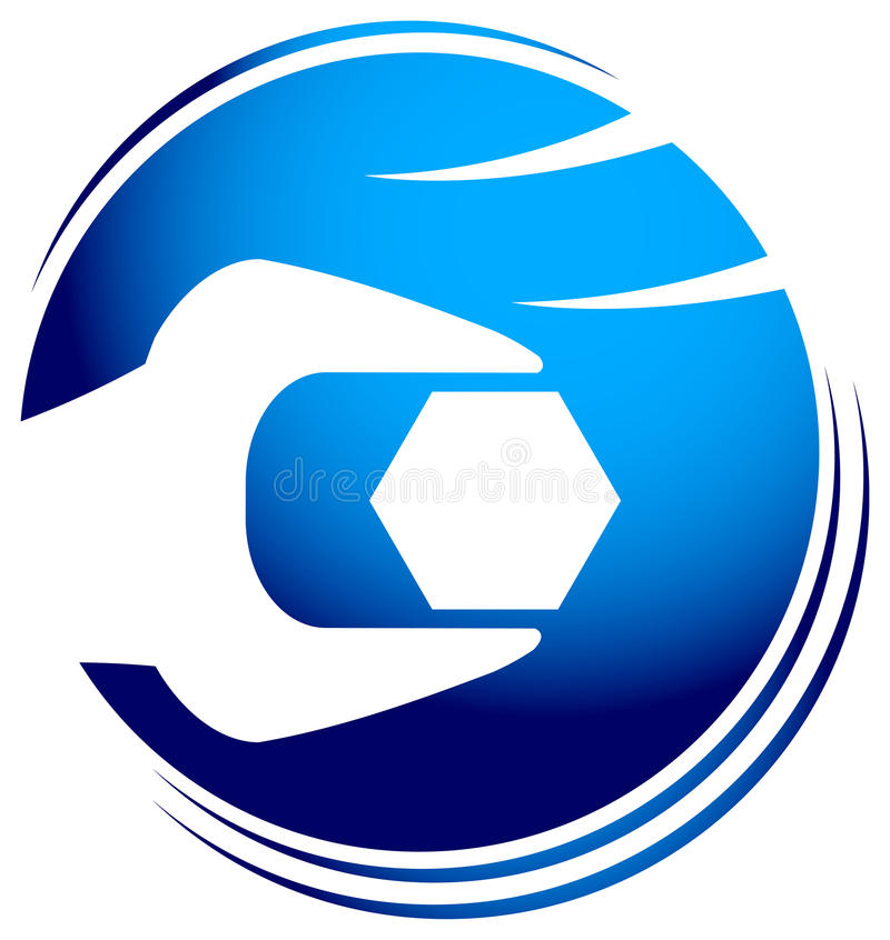 λογότυπο μηχανικό διανυσματική απεικόνιση