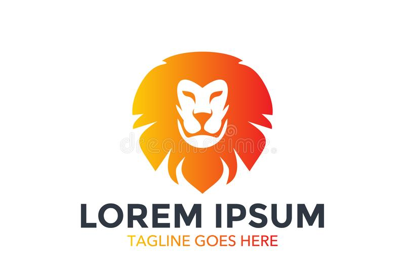 Λογότυπο μοναδικών και λιονταριών στάσεων έξω επίσης corel σύρετε το διάνυσμα απεικόνισης editable ελεύθερη απεικόνιση δικαιώματος