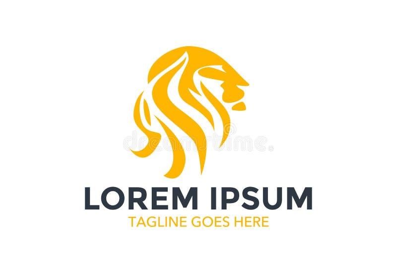 Λογότυπο μοναδικών και λιονταριών στάσεων έξω επίσης corel σύρετε το διάνυσμα απεικόνισης editable διανυσματική απεικόνιση