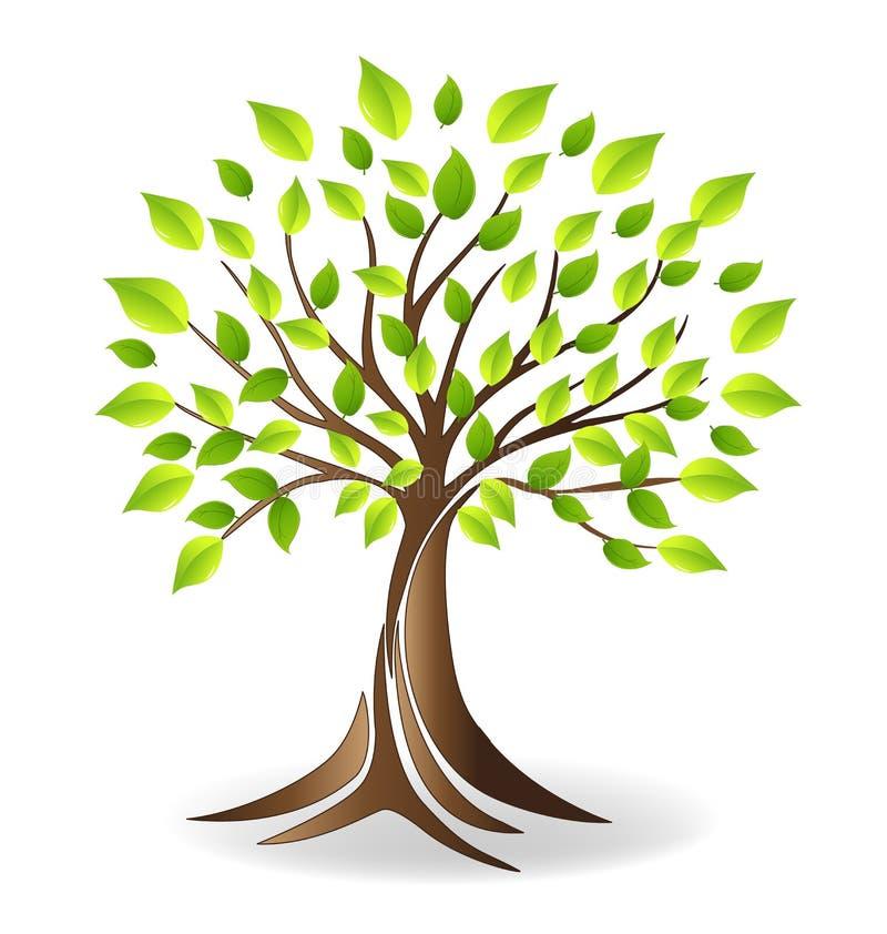 Λογότυπο οικογενειακών δέντρων οικολογίας απεικόνιση αποθεμάτων