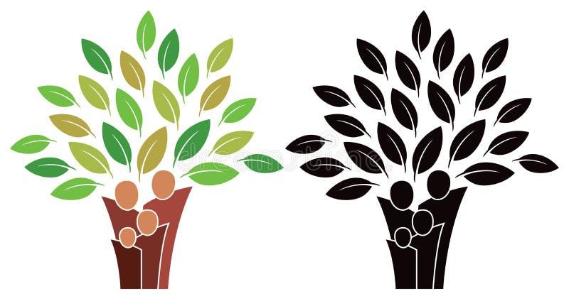 Λογότυπο οικογενειακών δέντρων ελεύθερη απεικόνιση δικαιώματος