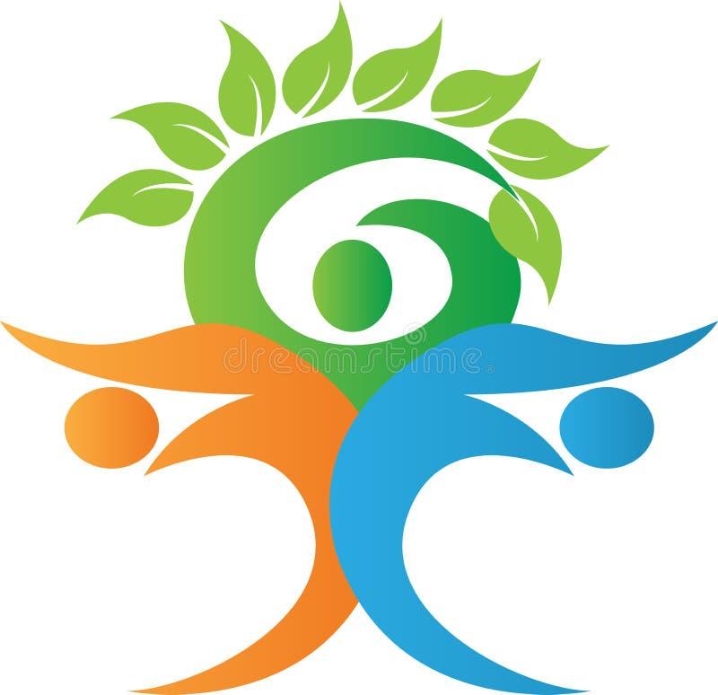 Λογότυπο οικογενειακών δέντρων διανυσματική απεικόνιση