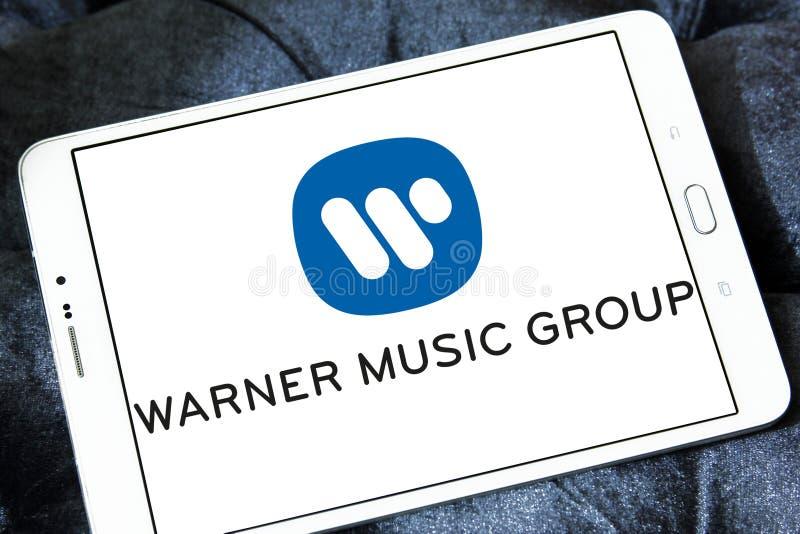 Λογότυπο ομάδας της Warner Music στοκ εικόνες