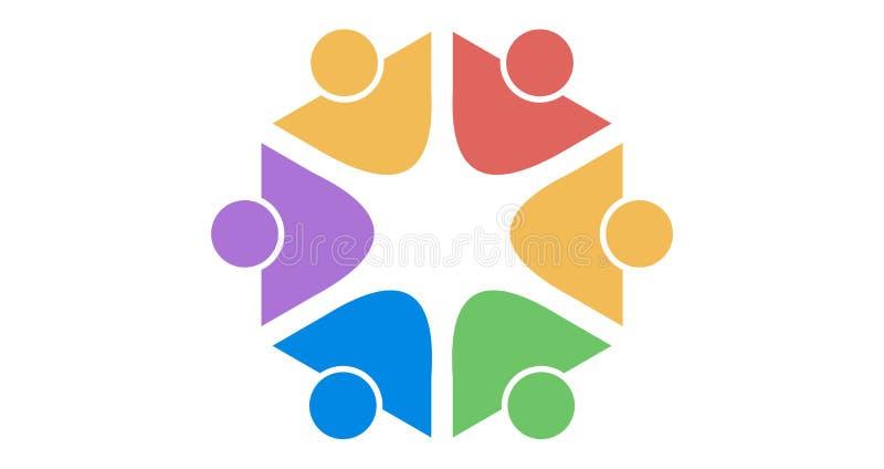 Λογότυπο ομάδας colourfull στοκ εικόνες