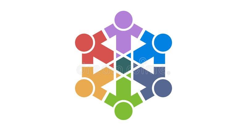 Λογότυπο ομάδας colourfull στοκ φωτογραφία