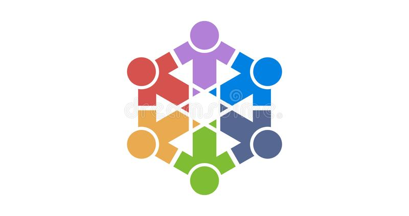 Λογότυπο ομάδας colourfull στοκ εικόνα με δικαίωμα ελεύθερης χρήσης