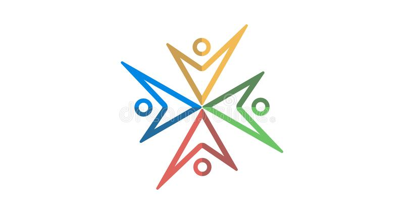 Λογότυπο ομάδας colourfull στοκ εικόνες με δικαίωμα ελεύθερης χρήσης