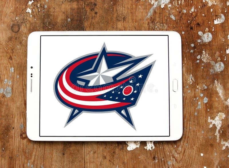 Λογότυπο ομάδων χόκεϊ πάγου Columbus Blue Jackets στοκ φωτογραφίες