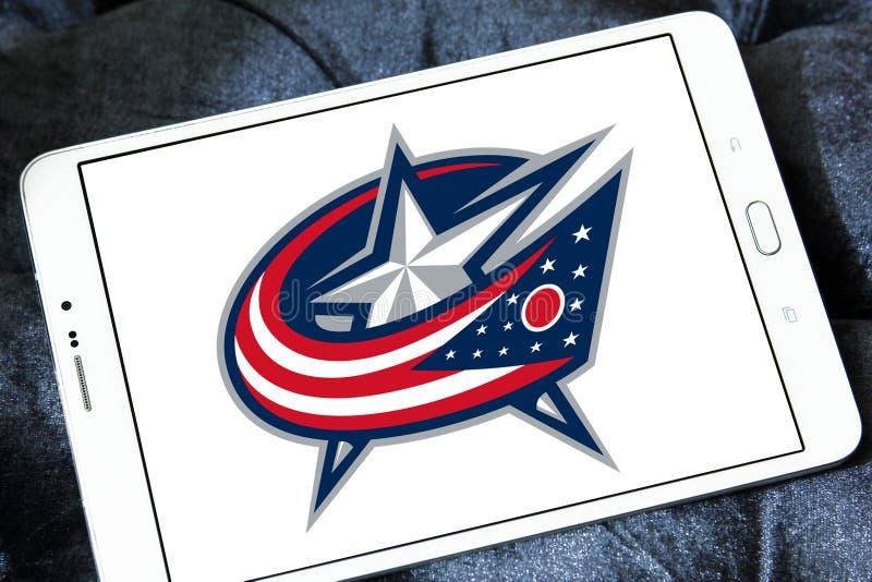 Λογότυπο ομάδων χόκεϊ πάγου Columbus Blue Jackets στοκ εικόνες