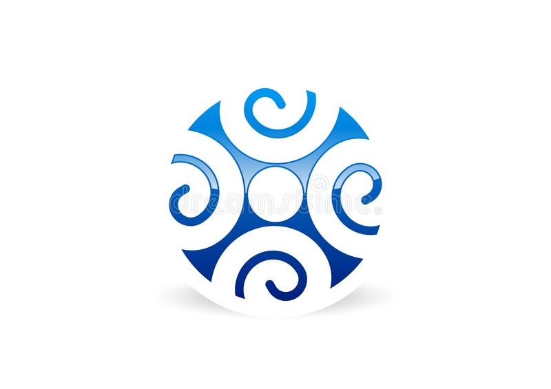 Λογότυπο ομαδικής εργασίας σύνδεσης ανθρώπων ελεύθερη απεικόνιση δικαιώματος