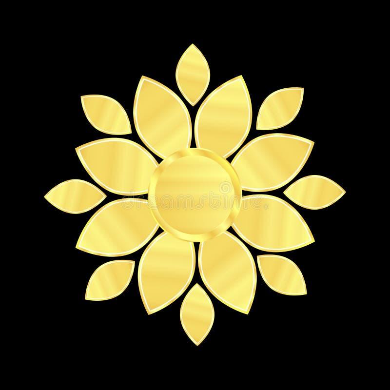 Λογότυπο ομορφιάς λουλουδιών διανυσματική απεικόνιση