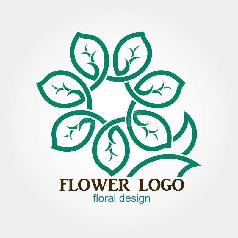 Λογότυπο λουλουδιών, αφηρημένη, γεωμετρική μορφή, επιχείρηση απεικόνιση αποθεμάτων