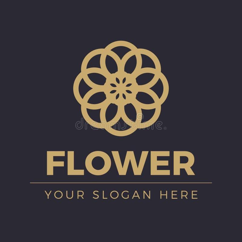 Λογότυπο λουλουδιών ελεύθερη απεικόνιση δικαιώματος