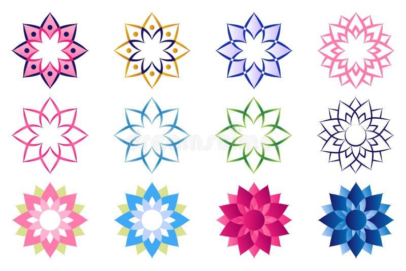 Λογότυπο λουλουδιών Lotus απεικόνιση αποθεμάτων