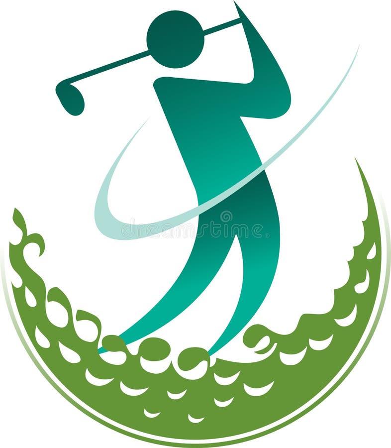 Λογότυπο παικτών γκολφ διανυσματική απεικόνιση