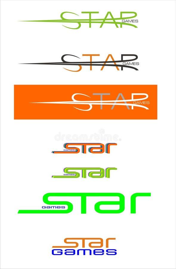 λογότυπο παιχνιδιών απεικόνιση αποθεμάτων