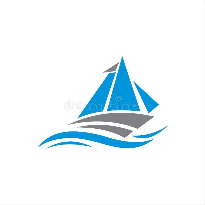Λογότυπο πανιών, απεικόνιση πανιών, διανυσματικό σχέδιο λογότυπων εικονιδίων ελεύθερη απεικόνιση δικαιώματος