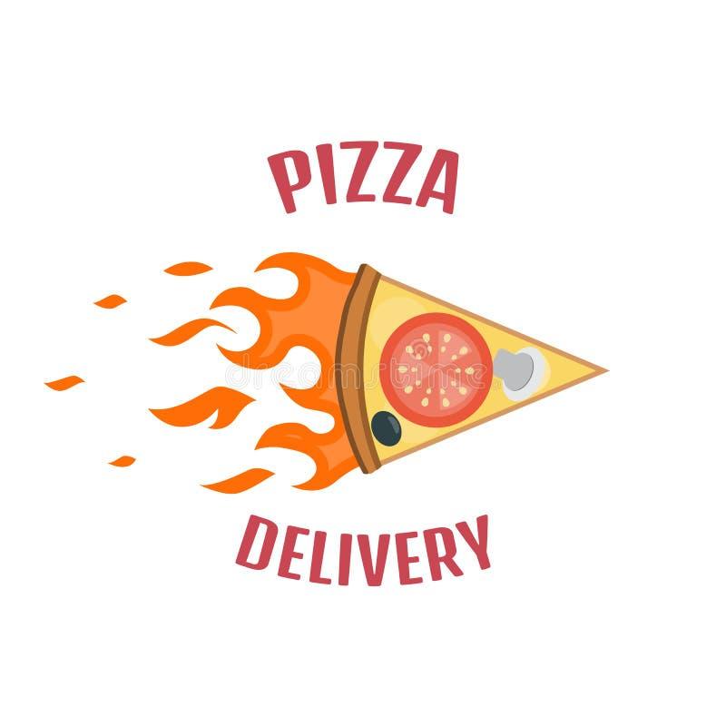 Λογότυπο παράδοσης πιτσών απεικόνιση αποθεμάτων