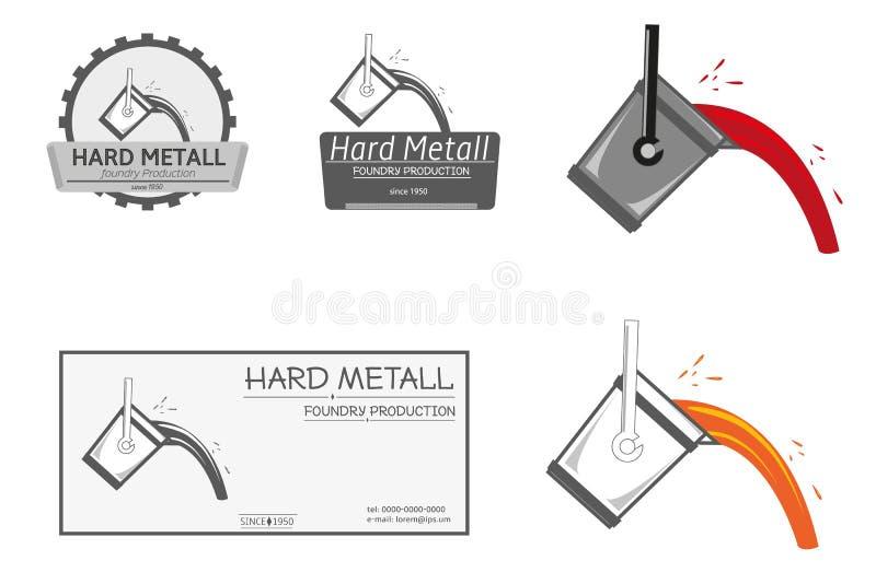 Λογότυπο παραγωγής χυτηρίων απεικόνιση αποθεμάτων