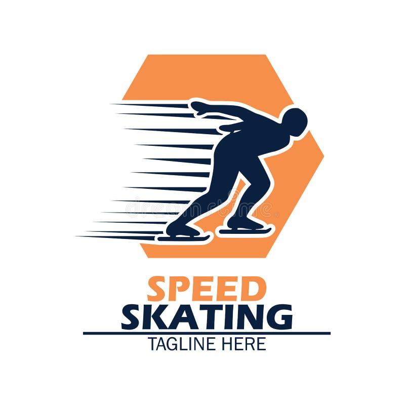 Λογότυπο πατινάζ ταχύτητας με το διάστημα κειμένων για το σύνθημα/τη γραμμή ετικεττών σας ελεύθερη απεικόνιση δικαιώματος