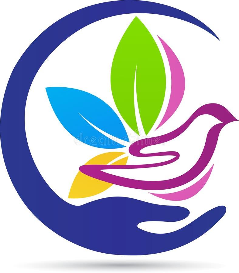 Λογότυπο περιστεριών ελεύθερη απεικόνιση δικαιώματος