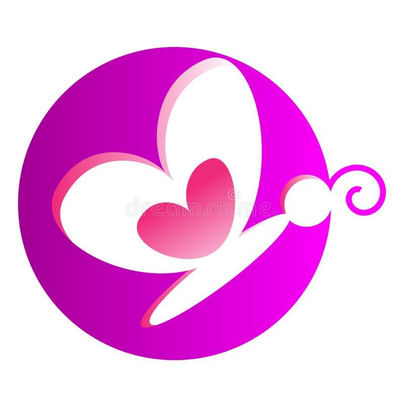 λογότυπο πεταλούδων ελεύθερη απεικόνιση δικαιώματος